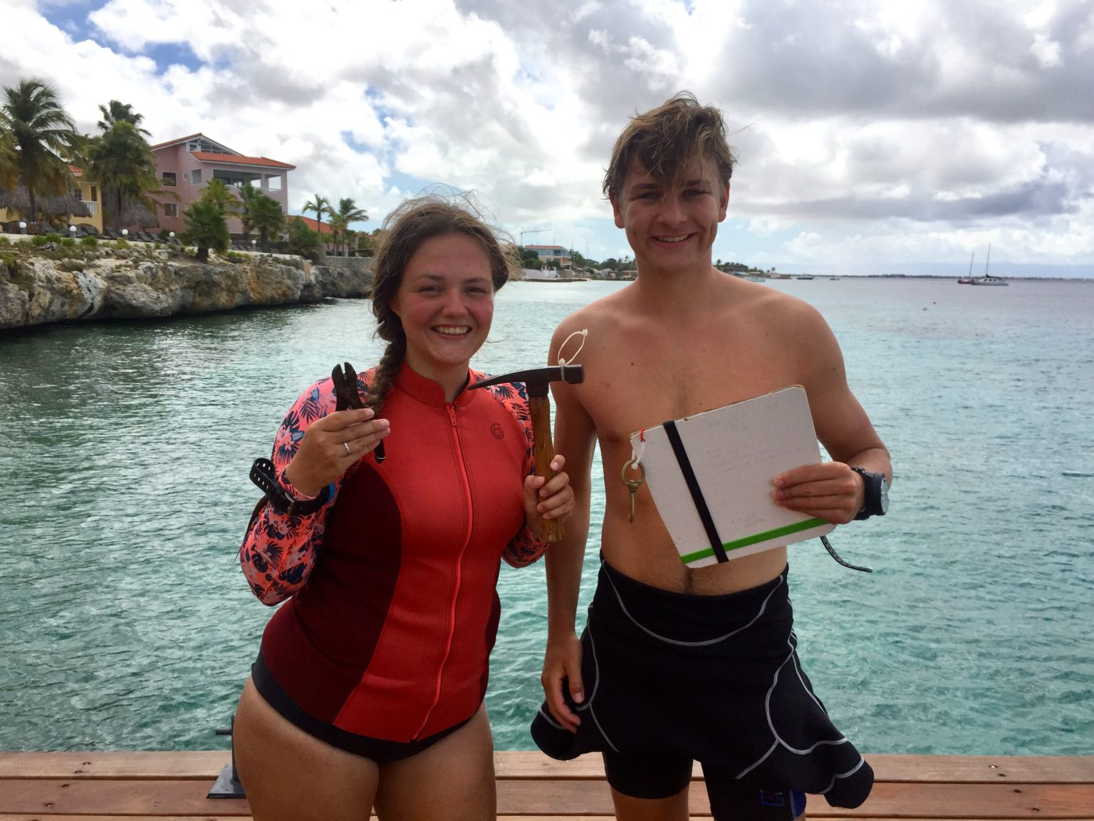 Anne and Sander after a dive survey